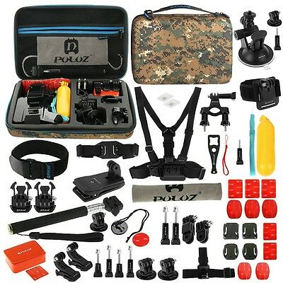 53 in 1 Accessories Chest Head Monopod Kit + Case For GoPro Hero 5 4 3+ 2 SJCAM