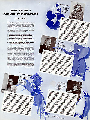 1939 Ladies Home Journal Article with Shirley Temple,Jack Benny,Rockwell.-[-904