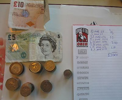 50.50 Pounds Face Value United Kingdom Coins And Bills
