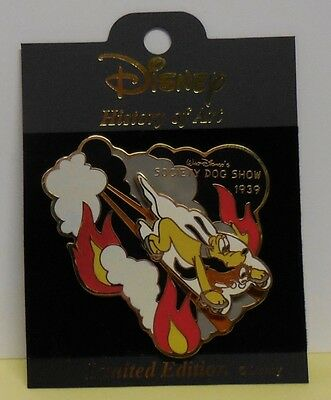 Disney Pin History of Art Society Dog Show 1939 Pluto Slider LE2000