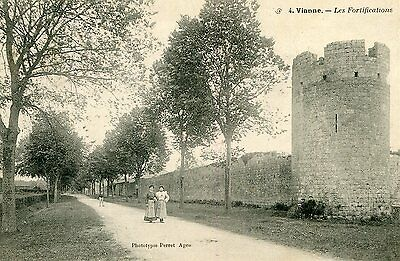 Carte VIANNE Les Fortifications