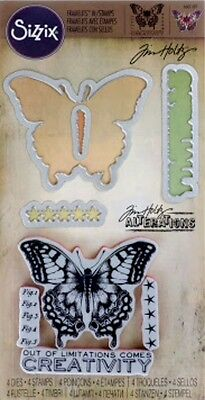 TIM HOLTZ Framelits stamps & dies LIMITATIONS BUTTERFLY