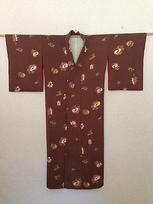 Hand made One of a kind Vintage Silk Women's Japanese Kimono Old World Charm