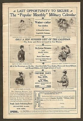 Vintage Ads Clipped From 1899 Frank Leslie's Popular Magazine -Military Calendar
