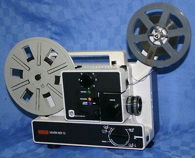 EUMIG 607D  DUAL 8mm SILENT MOVIE PROJECTOR, ZOOM LENS, 5 SPEEDS, SERVICED A1