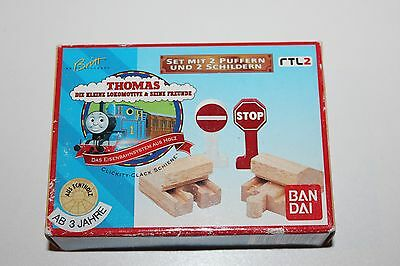 Thomas The Tank Engine Wooden Railway End Stopper and Signs German Brand New