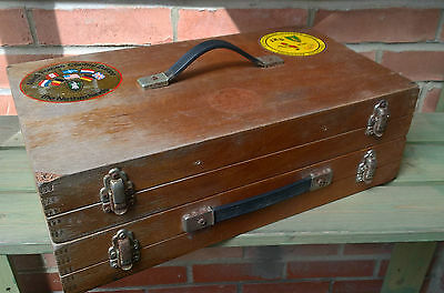 Vintage Float / Tackle Box - Double sided - with floats