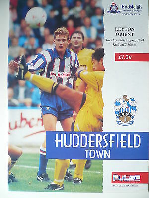 94/95 - HUDDERSFIELD TOWN v LEYTON ORIENT - DIVISION 2 - EXC