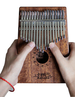 Profession GECKO 17 Keys Sapele Kalimba Mbira Likembe Thumb Piano Idea Fun Gift