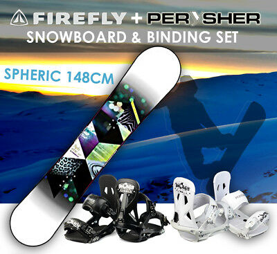 FIREFLY Snowboard 148cm & PERYSHER Bindings Set - SPHERIC SNOWBOARD