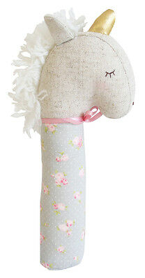 Alimrose Yvette Unicorn Squeaker - Blush and Gold