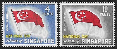 17J_AA012 SINGAPORE 1960 SC 59/60 Flag MNH Set