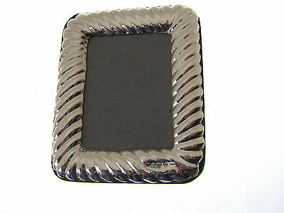 Silver Portrait Photo Frame. Hallmarked Sterling Silver Small Picture Frame