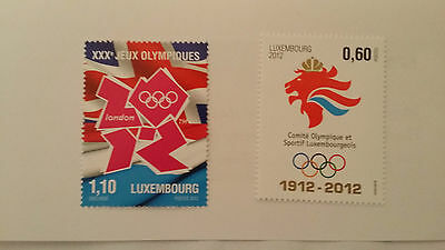 LUXEMBOURG 2012 - Olympics  mint set of 2 stamps