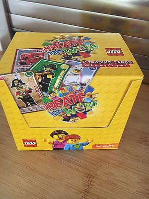 sainsburys lego create the world cards One Full Un Opened Box