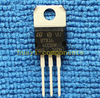 5pcs BTB16-600BW 16 A Snubberless, logic level and standard Triacs TO-220