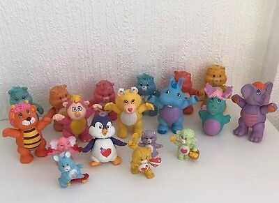 18 Vintage Care Bear Figures Toys