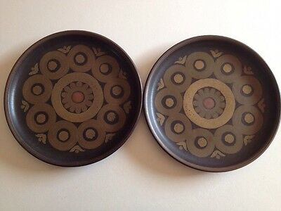 2 X Small Dishes Denby 1960 Pottery England Collectable 21 Cm