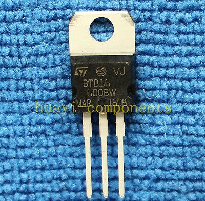 10pcs BTB16-600BW 16 A Snubberless, logic level and standard Triacs TO-220