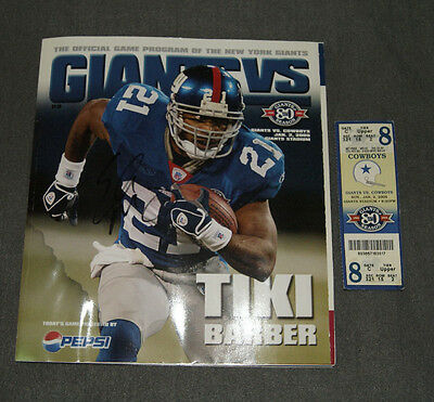 2005 New York Giants Game Program Signed by Eli Manning (his 1st career victory)