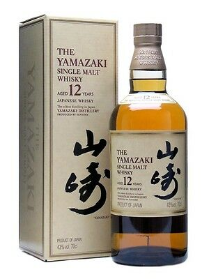 Yamazaki 12 Year Old Single Malt Japanese Whisky 700ml 43 % abv      ...