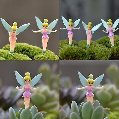 6pcs Garden Ornament Fairy Miniature Figurine Plant Pot Dollhouse Decor Craft