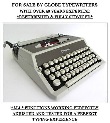 Vintage 'imperial Mercury' Portable Typewriter **fully Working+Fully Serviced**