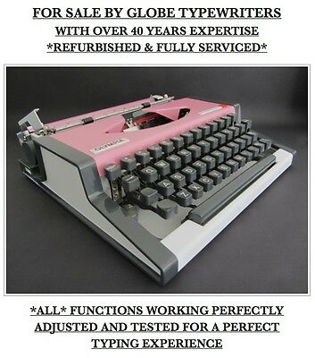 'olympia Traveller Deluxe S' Typewriter *fully Working*+Professionally Serviced