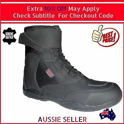 Lace Up Motorcycle Boot