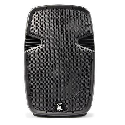 """Skytec Spj1500Abt 15"""" Active Pa Speaker 800W Bluetooth Usb Sd Mp3 Stage Monitor"""