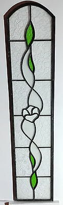 lead light stained glass window panel Antique