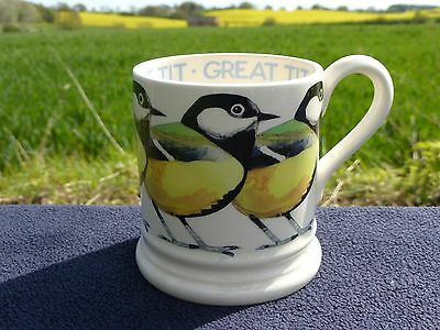Emma Bridgewater - Birds - 'great Tit' Half Pint Mug/new