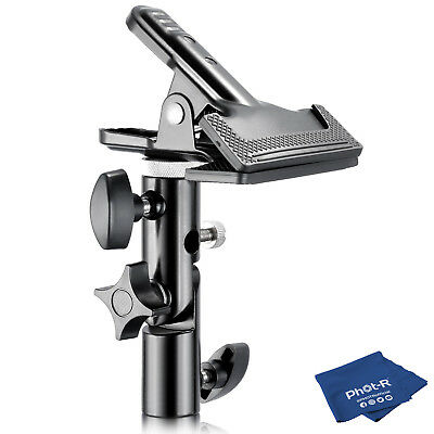 Phot-R Heavy Duty Metal Clamp Clip Holder Reflector Light Stand Microfibre Cloth