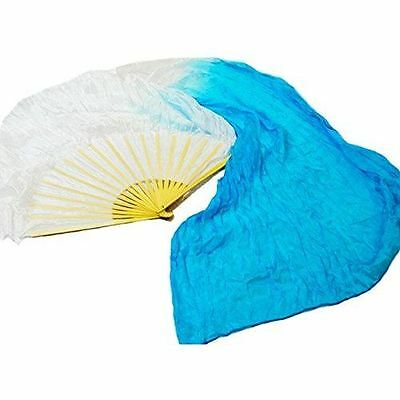 Danzcue Hand Made Semi-transparent Worship Silk Dance Long Fans