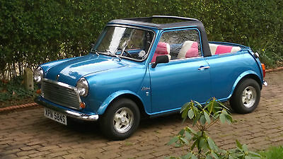 1978 Classic mini Convertible by Leyland cars 850 cc metallic Blue rebuilt 2014