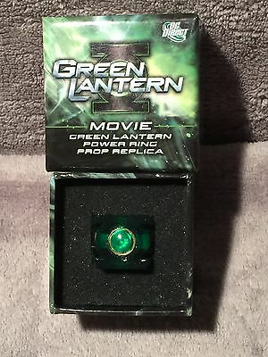 GREEN LANTERN MOVIE DC DIRECT 2011 PROP REPLICA POWER RING - Size 10- 4000 MADE!