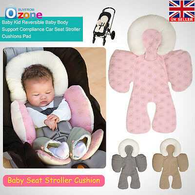 Baby Car Seat Stroller Pram Soft Head Neck Body Support Cushion Pillow Newborn