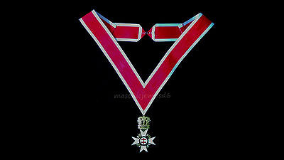 masonic regalia-MASONIC JEWELS-KNIGHTS TEMPLAR PRECEPTOR COLLARETTE & JEWEL NEW