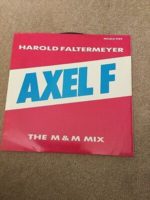 "Harold Faltermeyer Axel F Vinyl 12"" Single"