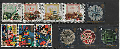1) GB Stamps 1989 Full Year Commemoratives + Greetings. Good Used.