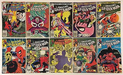 The Amazing Spider-Man 240 241 242 243 244 245 246 247 248 249 Marvel Comics Lot