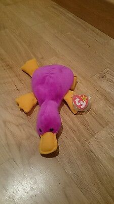 Patti - Ty Beanie Baby Mint - Platypus Teddy - Soft Collectable Toy