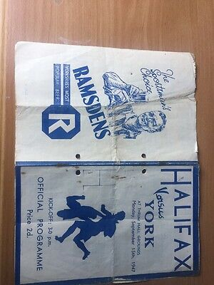 Halifax Rugby League Programme