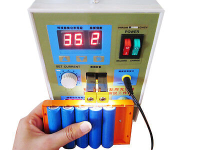 CA &USA Sell LED Dual Pulse Spot Welder 18650 Battery Charger 800 A 0.1 - 0.2 mm