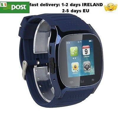 M26 Smart Watch Bluetooth For Android Iphone Smartphone BLUE COLOUR