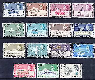 BRITISH ANTARCTIC TERRITORY 1963 set to first £1 SG1/15 unmounted mint Cat £170+
