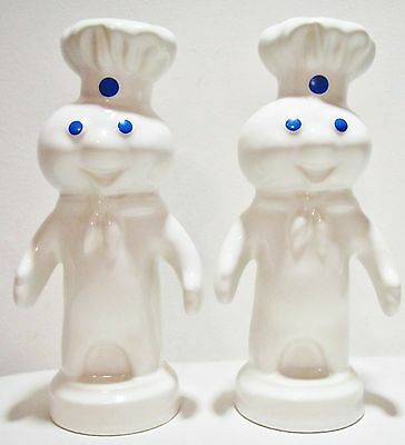 "7"" Vintage 1985 Pillsbury Co. Dough Boy Ceramic Figure Coin Money Piggy Bank Lot"