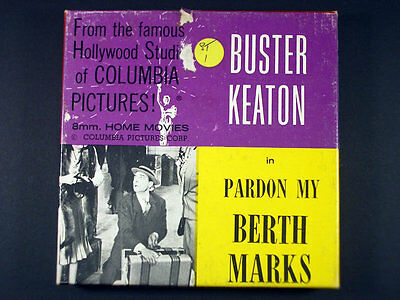 Super 8Mm Black & White / Columbia Pictures Home Movie / Buster Keaton In ...