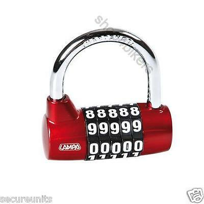 Resettable padlock disc lock ideal for bikes motorhomes garden sheds motorcycles