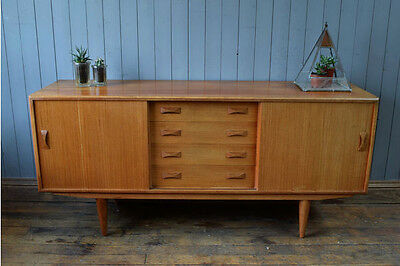 Rare 1960's Clausen And Son Danish Teak Sideboard Mid Century Vintage